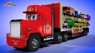 Learning Colors city Vehicle big size car carrier Fire truck police car Play for kids car toys