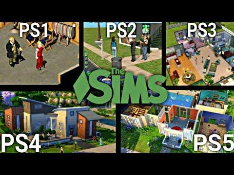 THE SIMS PS1 VS PS2 VS PS3 VS PS4 VS PS5
