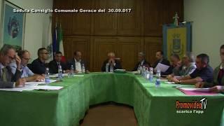 Gerace (R.C.) Seduta Consiglio Comunale del 30 settembre 2017