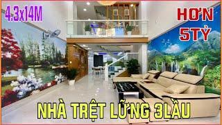 Bán nhà Gò Vấp | 374] Nhà mới đẹp trệt lững 3 lầu thiết kế trang trí tuyệt vời giá rẻ nhất Gò Vấp