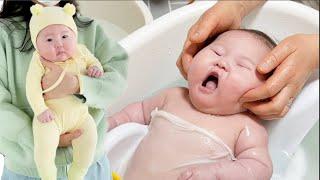 목욕이 너무 즐거운 아기 ㅋㅋㅋ