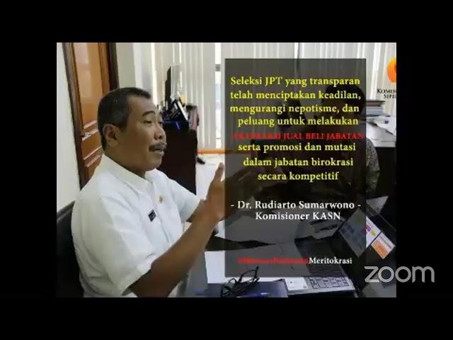 Webinar Pembinaan Panitia Seleksi Terbuka Jabatan Pimpinan Tinggi