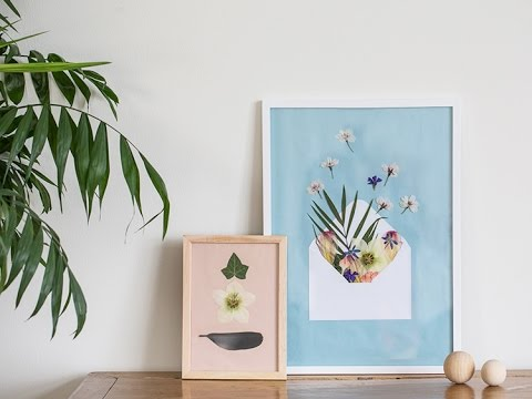 Diy Pressed Flowers In Frame By Sstrene Grene Youtube