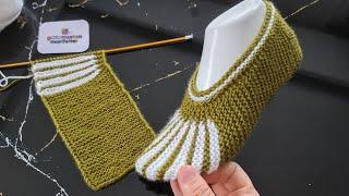 Новый дизайн Схема вязания носков Вязание женских тапочек узорами
