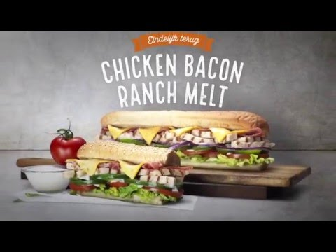 Subway chicken bacon ranch