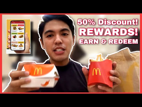 MCDONALDS APP | GET 50% DISCOUNT, CLAIM & REDEEM POINTS AND OTHER PROMOS 2021 | Rhed Manalili
