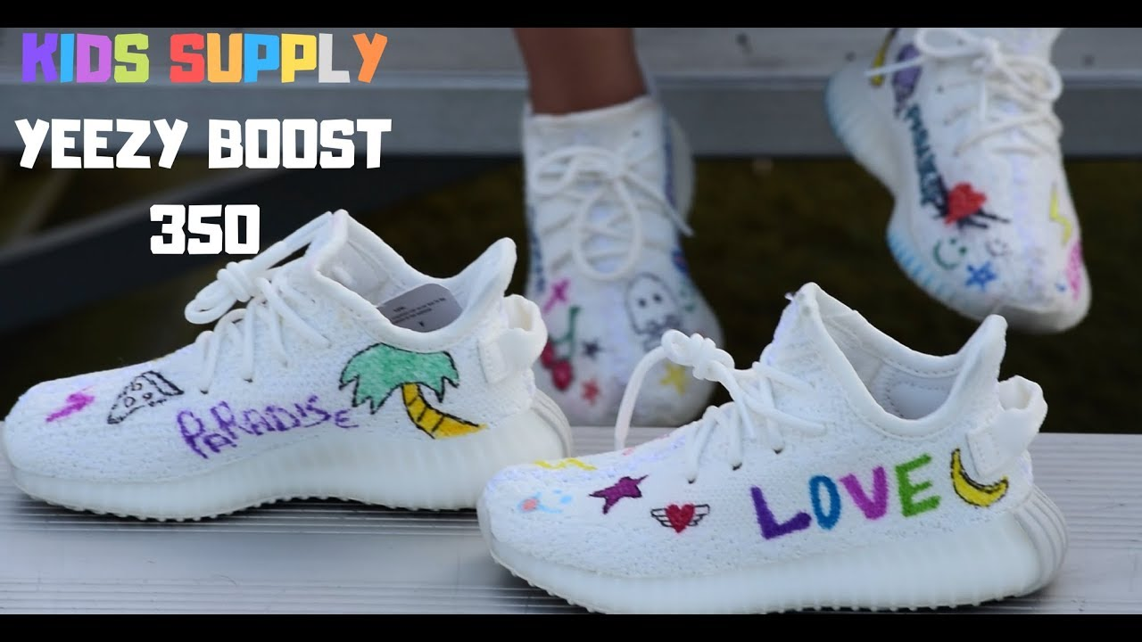 86ad5961410ca ON FOOT  2 YEAR OLD ON FOOT PERSONALIZED YEEZY BOOST 350 FROM KIDS SUPPLY