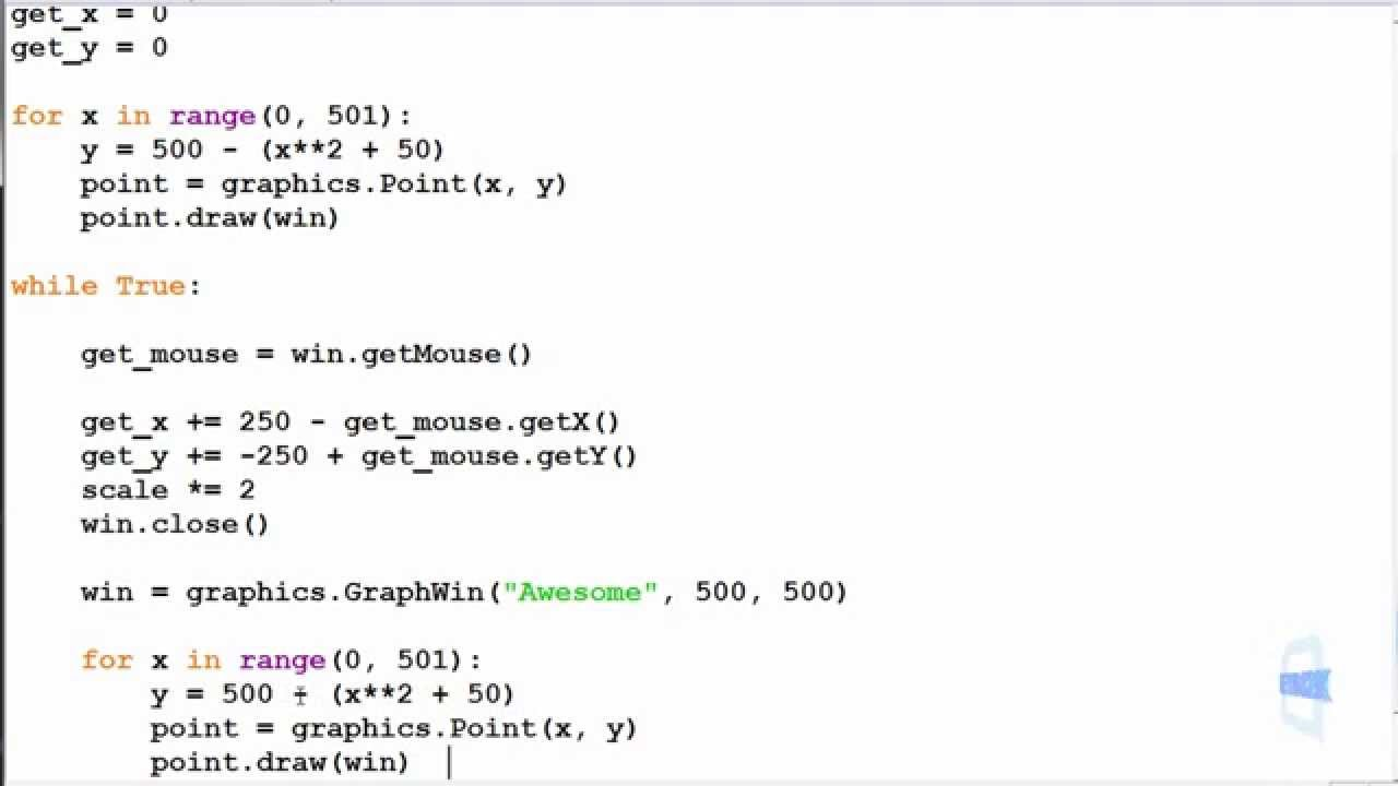 Python Exercise 9.2 - while loop - Graphics Zoom - YouTube