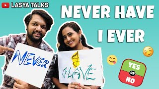 Lasya Talks || Never Have I Ever With My Husband || Very interesting Game😍😍 ||