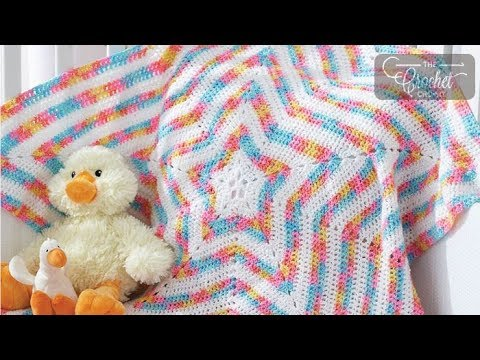 How To Crochet A Baby Blanket Baby Star Afghan Youtube