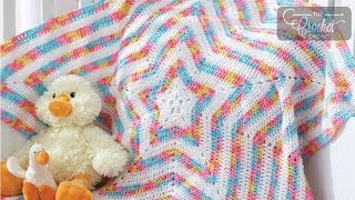 How to Crochet A Baby Star Blanket