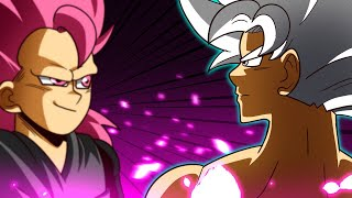 SUPER SAIYAJIN BLUE Vs SUPER SAIYAJIN ROSÉ - Dragon Ball Super Heroes  ‹ Ine ›