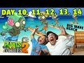 Lets Play PVZ 2: BOWLING BULBS! Big Wave Beach Days 10, 11, 12, 13, 14 (Dad & Mike Face Cam)