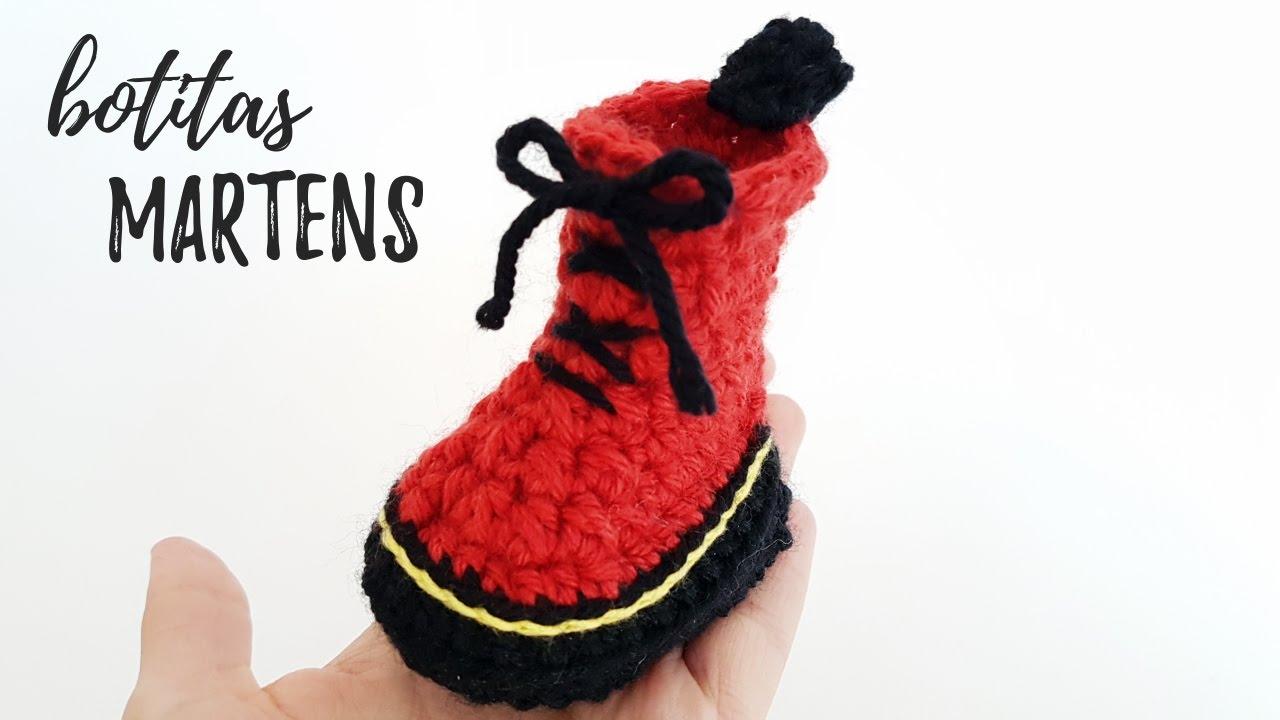 Botitas para bebé a crochet (MINI MARTENS) | Tutorial PASO A PASO ...