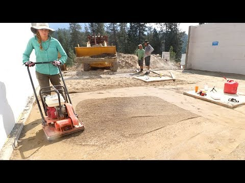 THIS WILL RATTLE YOUR BRAINS OUT (Compacting Sand Under Slab)