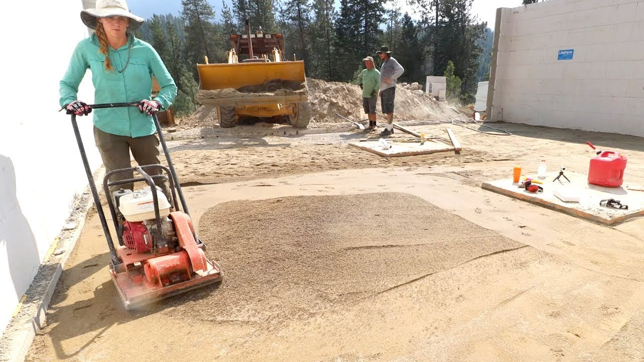 This Will Rattle Your Brains Out Compacting Sand Under Slab