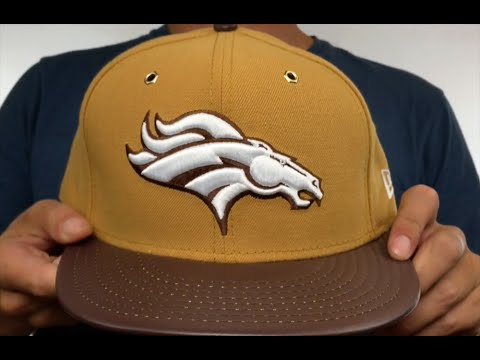 Broncos  METAL HOOK  Wheat-Brown Fitted Hat by New Era - YouTube 823031e80