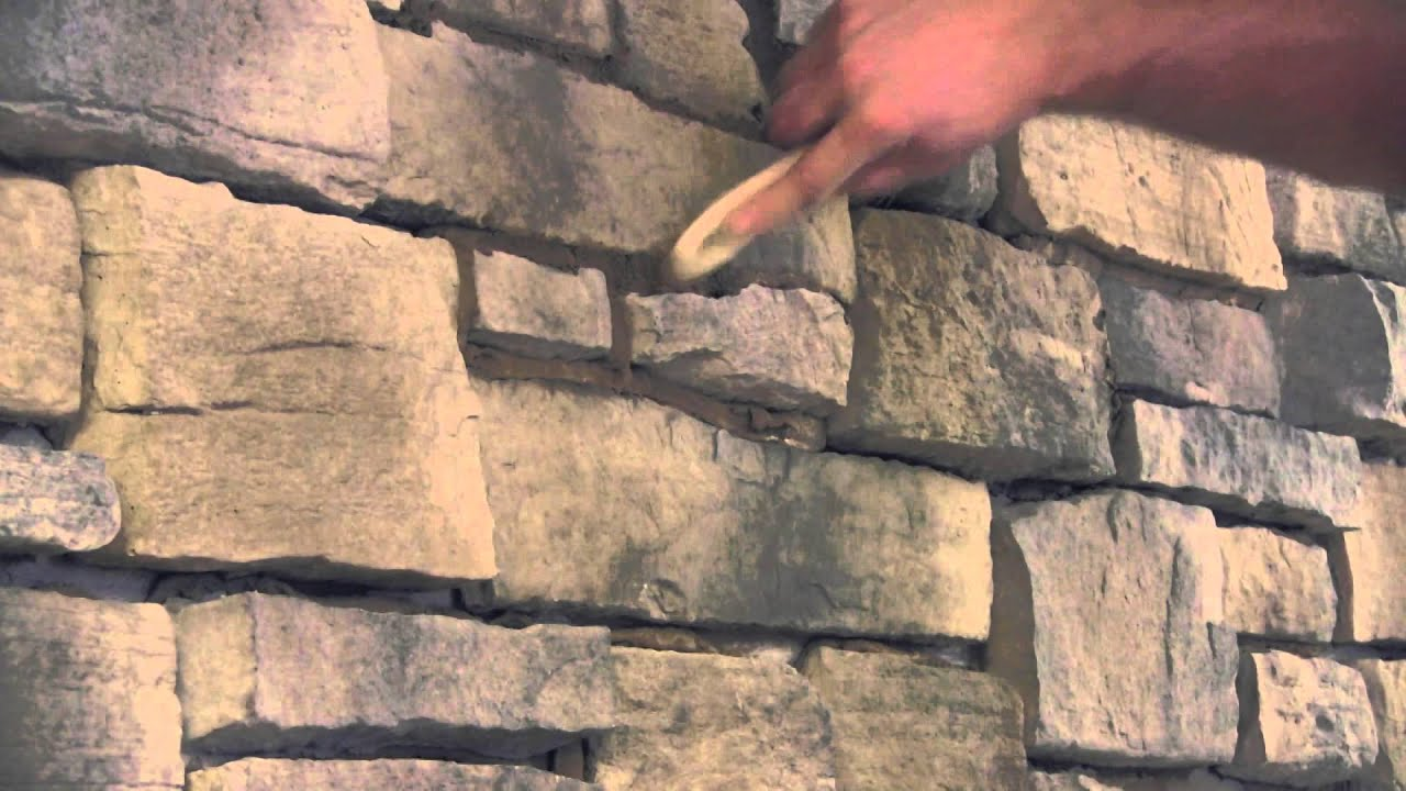 Step 6 Striking the joints Stone Veneer Installation