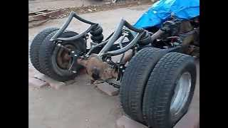 RAT ROD INTERNATIONAL CAB CANTILEVERS AIR BAGGED  REAR  Front Yard Fabrications Andy Ziepke dually
