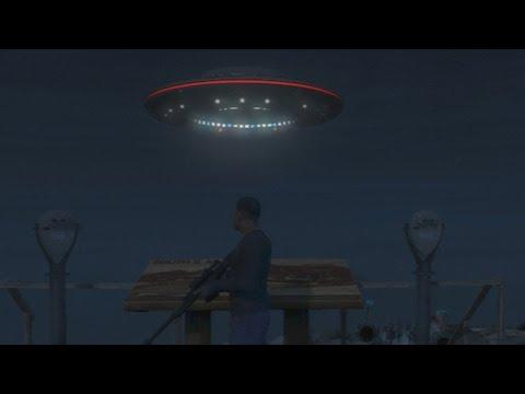 GTA 5: Mount Chiliad UFO Gameplay Clip