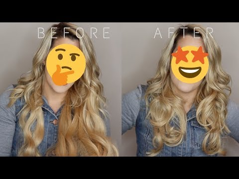 TRANSFORMING CHEAP $20 HALO HAIR EXTENSIONS | Beauty Hacks