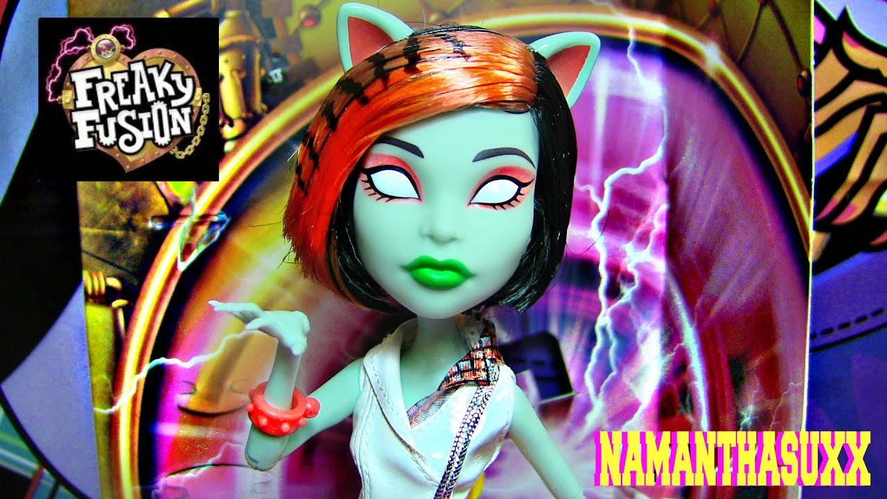 MONSTER HIGH FREAKY FUSION SCARAH SCREAMS AS TORALEI DOLL REVIEW VIDEO