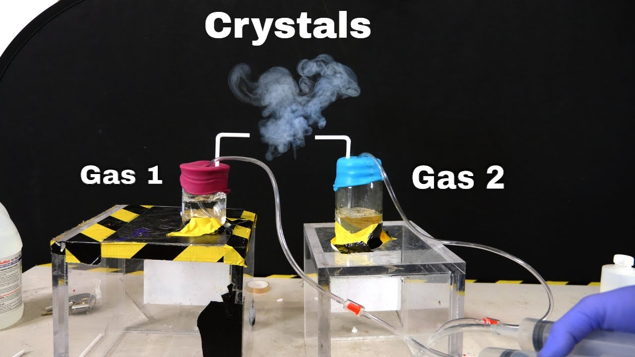 Making Smoke Crystals From Ammonia Gas and Hydrogen Chloride Gas