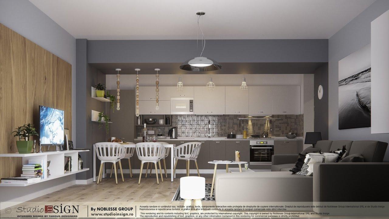 Elegant Proiecte Rezidentiale   Proiect Apartament Bucuresti Stil Nordic | Design  Interior Studio Insign   YouTube