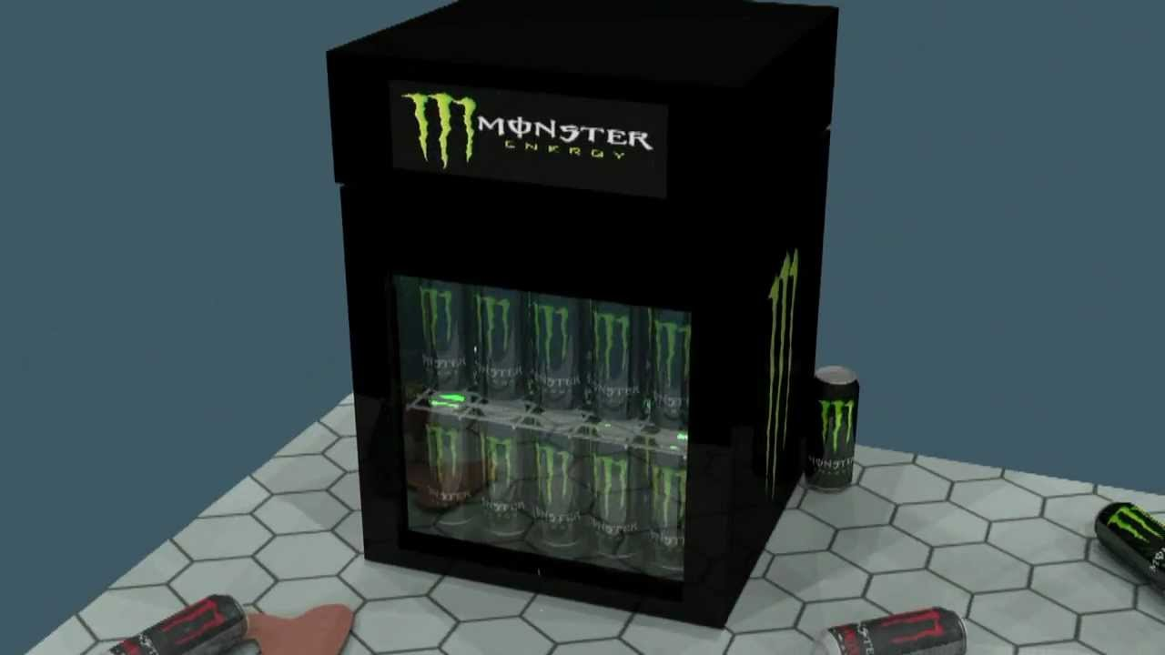 Mini Kühlschrank Monster Energy : Monster energy kühlschrank d animation youtube
