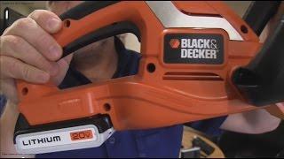 Black & Decker 20V Cordless Hedge Trimmer Unboxing