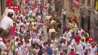 SPAIN BULL RUN 2016 DAY 4 PAMPLONA
