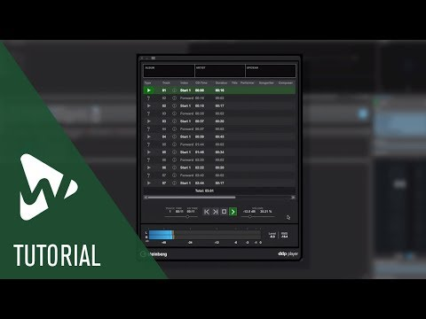 The DDP Player | New Features in WaveLab Pro 9.5