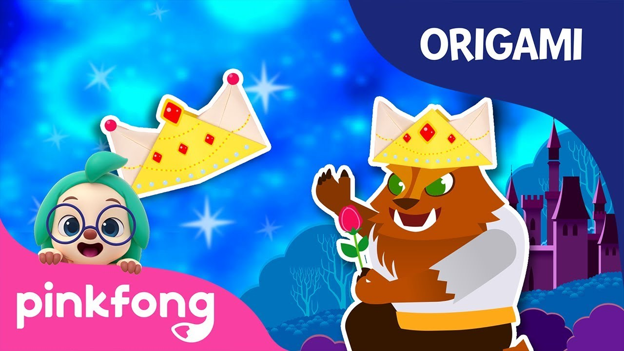 Beauty and the Beast: Crown | Pinkfong Origami | Origami and Songs | Pinkfong Crafts for Children