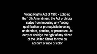 A Level - American civil rights history 1865 - 1992 ocr