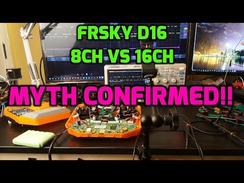 FrSky D16 8ch vs 16ch Latency // Final Results
