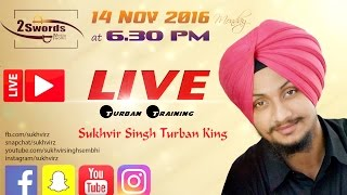 Repeat youtube video Live Turban Tutorial 3 - Improve Shape - Insert goggles in Turban