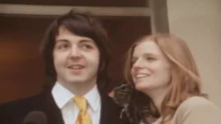 Paul McCartney's marriage to Linda Eastman 1969 HD