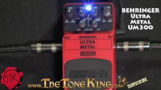 ultra Metal Pedal Behringer Bugera UM300 UM-300 Boss Metal Zone MT2 MT-2 Demo Review Randall Halo