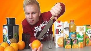 видео 8 мифов о свежевыжатых соках