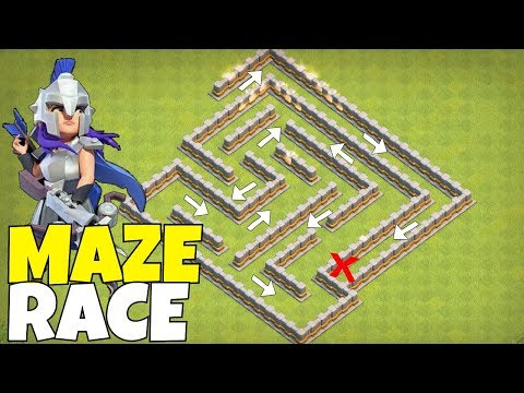"MAZE RACE BASE!! ""Clash Of Clans"" 11 Million Loot GraB!!"