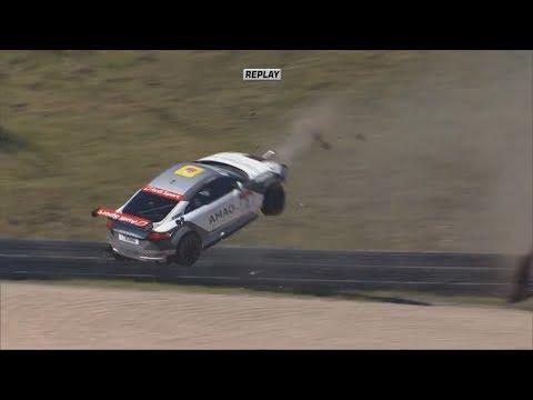 Audi Sport TT Cup 2017. Race 2 Nürburgring. Finlay Hutchison Huge Crash