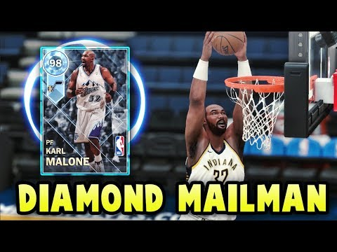 NBA 2K18 MyTEAM DIAMOND PLAYOFFS KARL MALONE IS UNSTOPPABLE!! | THE BEST CARD IN NBA 2K18 MyTEAM?!