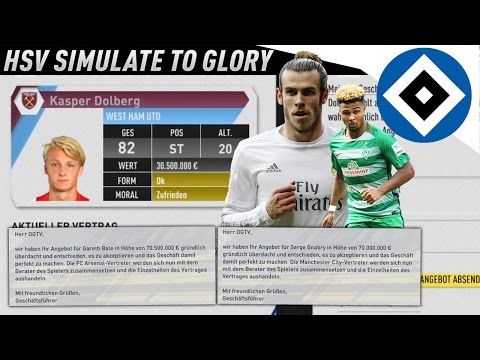 200 MIO FÜR TRANSFERS!!! BALE & GNABRY FÜR 140 MIO!?? | HSV SIMULATE TO GLORY KARRIERE (DEUTSCH) #14