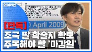 [단독] 조국 딸 '제3 저자' 학술지 확보...앞뒤 …