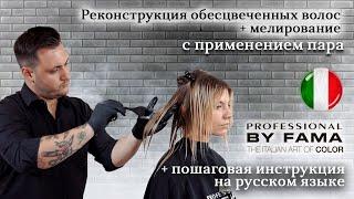 Восстановление и реконструкция обесцвеченных волос мелирование волос Professional By Fama
