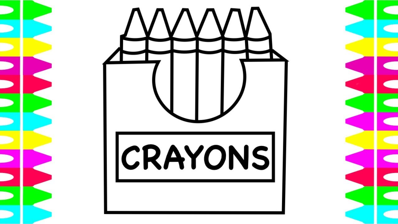 How to DRAW a box of Crayons| How to COLOR Crayons| Coloring for ...