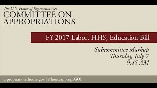 Markup of FY 2017 Labor, HHS & Education Appropriations Bill - Subcommittee (EventID=105111)