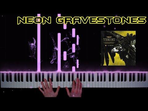 twenty one pilots - Neon Gravestones - piano cover   tutorial   how to play