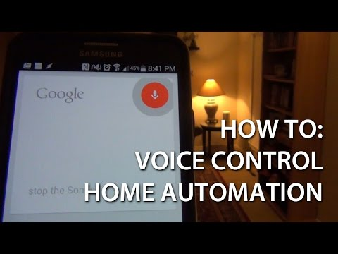 Voice Control of Home Automation with Android (How To)
