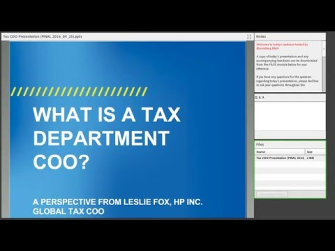 Increasing Value with a Tax Department COO